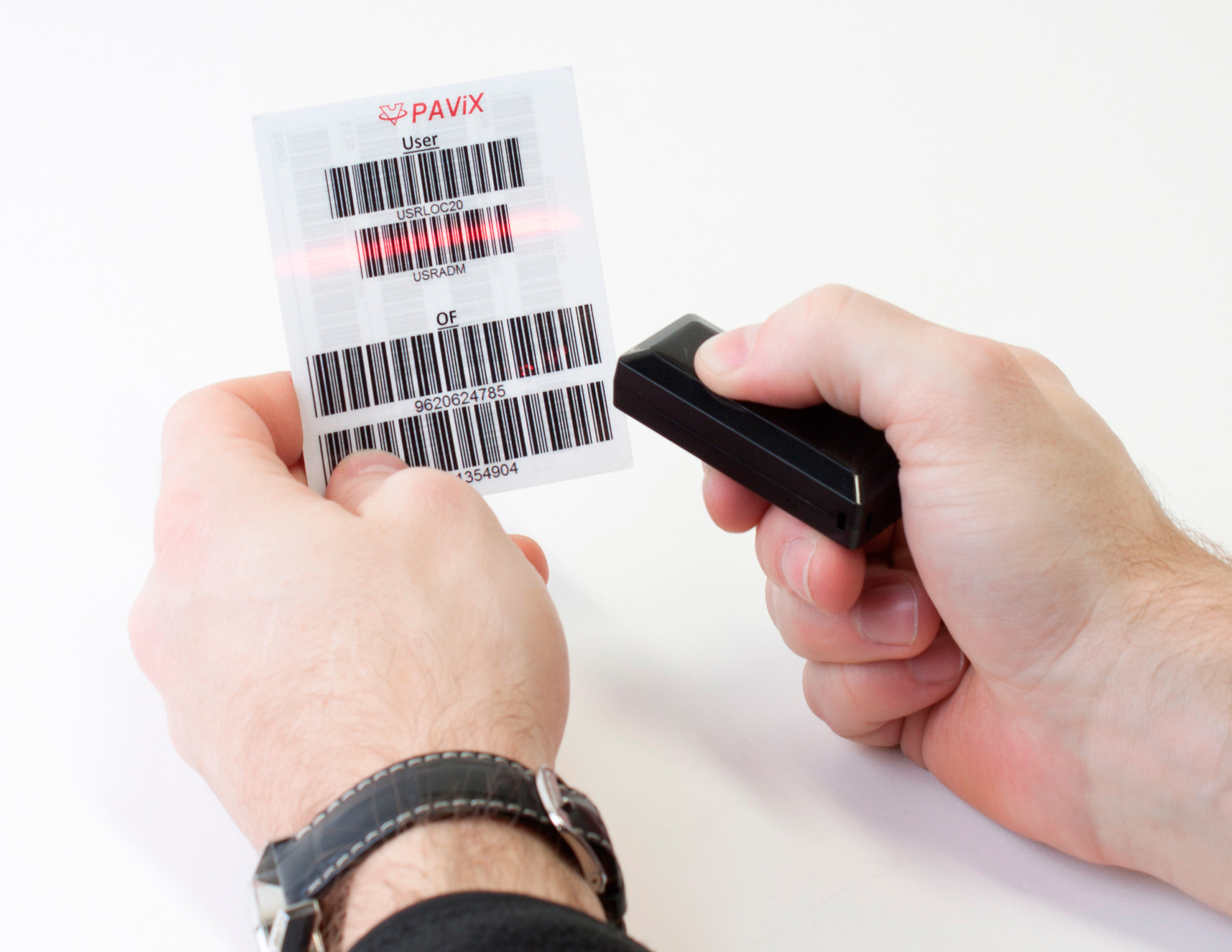 Traceability information input using BLUETOOTH® scanner